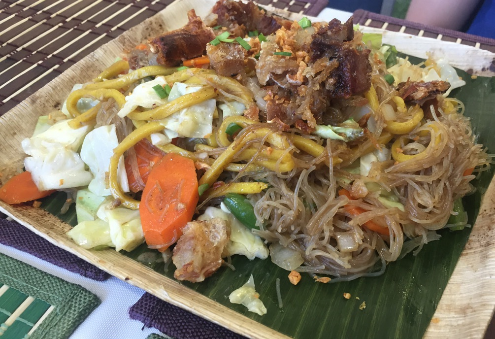 A staple dish at Adobo Experience is the Long Life (pancit bihon).