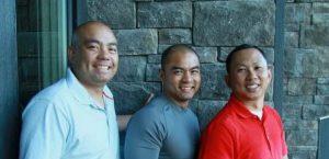 The original pubilshers of Mabuhay Calgary: Arnie Laoag, Jay Raymundo and Ramel Oriel.